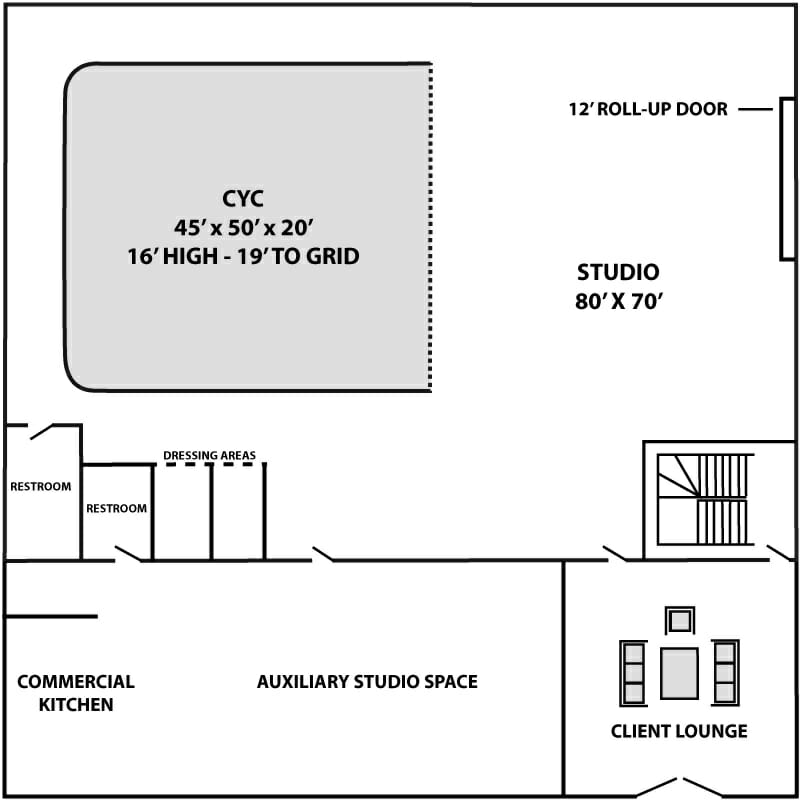 Studio 760 Floor Plan